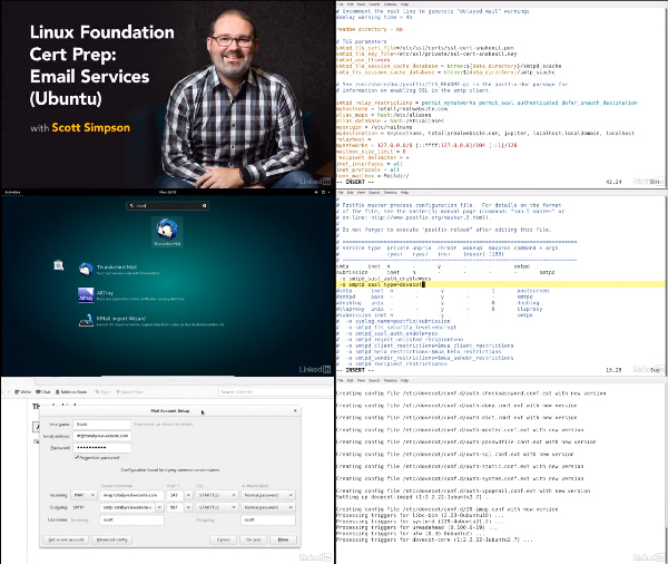 Linux Foundation Cert Prep: Email Services - Ubuntu center