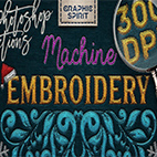 Machine Embroidery Photoshop Actions logo