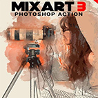 MixArt 3 Photoshop Action logo