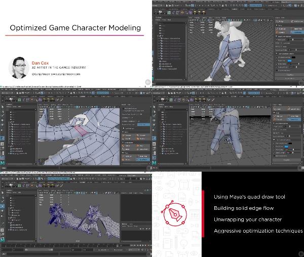 Optimized Game Character Modeling center
