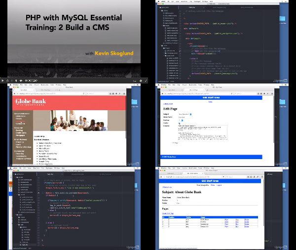 PHP with MySQL Essential Training: 2 Build a CMS center
