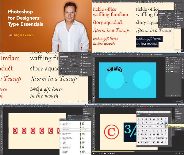 Photoshop for Designers: Type Essentials center