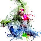 Pixels Painting Photoshop Action logo