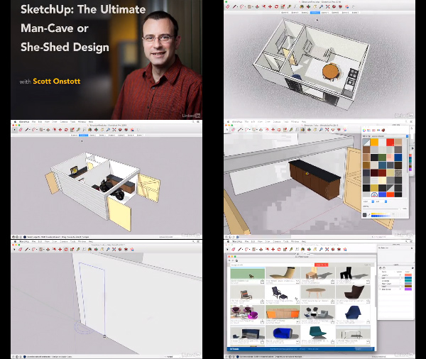 SketchUp: The Ultimate Man-Cave or She-Shed Design center