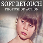 Soft Retouch Photoshop Action logo
