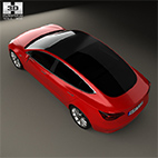 Tesla Model 3 2018 3D model logo