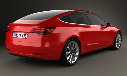 Tesla Model 3 2018 3D model center