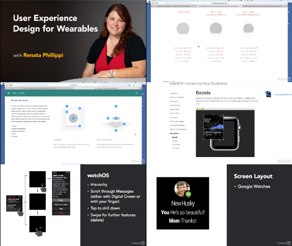 User Experience Design for Wearables center