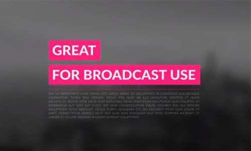 Videohive 4k Broadcast Titles Package center
