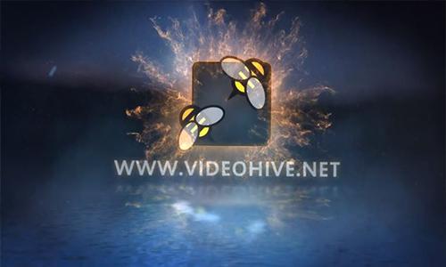 Videohive Fire Dance Logo Reveal center
