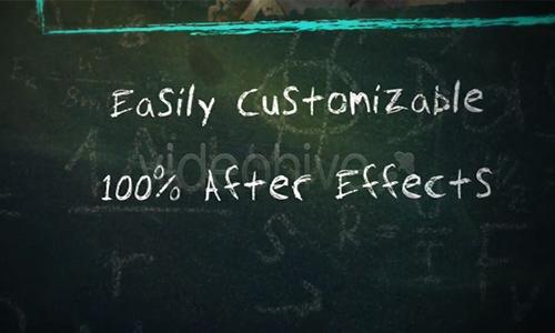 Videohive School Chalkboard v3 center