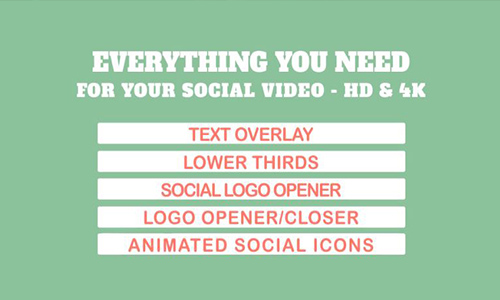 Videohive Social Media Video Graphic Pack center