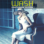 Wash Photoshop Action logo
