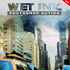 Wet Ink Photoshop Action logo