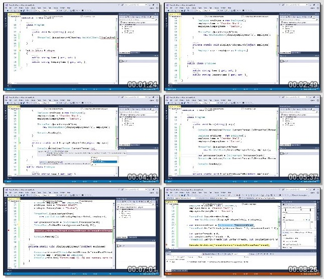 دانلود فیلم آموزشی Multithreaded Programming in C sharp