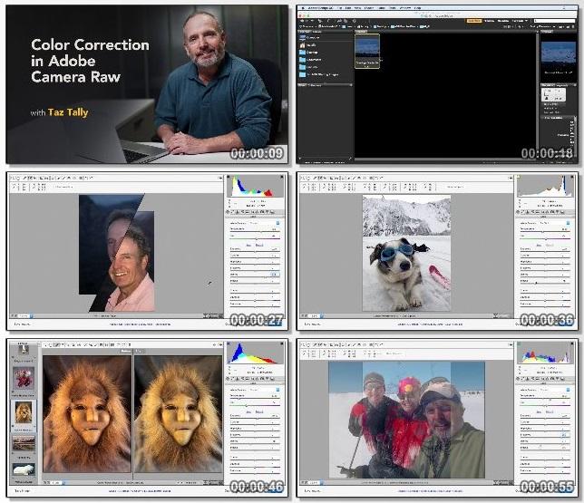 دانلود فیلم آموزشی Adobe Camera Raw: Color Correction از Lynda