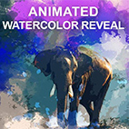 Animated Watercolor Reveal Photoshop Action logo