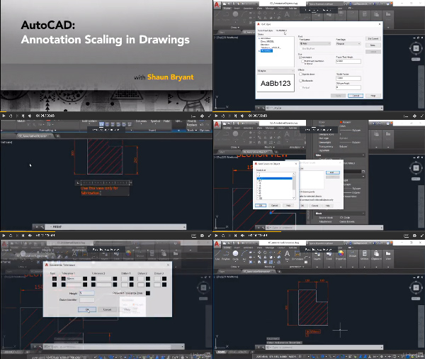 AutoCAD: Annotation Scaling in Drawings center