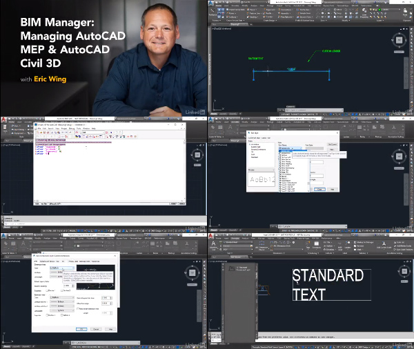 BIM Manager: Managing AutoCAD MEP and AutoCAD Civil 3D center