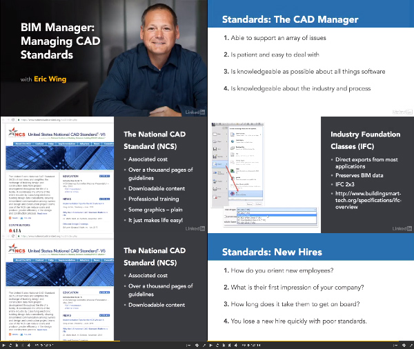 BIM Manager: Managing CAD Standards center