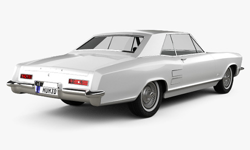 Buick Riviera 1963 3D model center