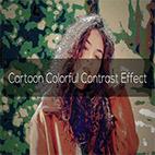 Cartoon Colorful Contrast Effect logo