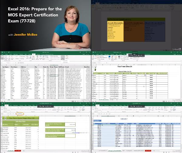 Cert Prep: Excel 2016 Microsoft Office Expert 77-728 center