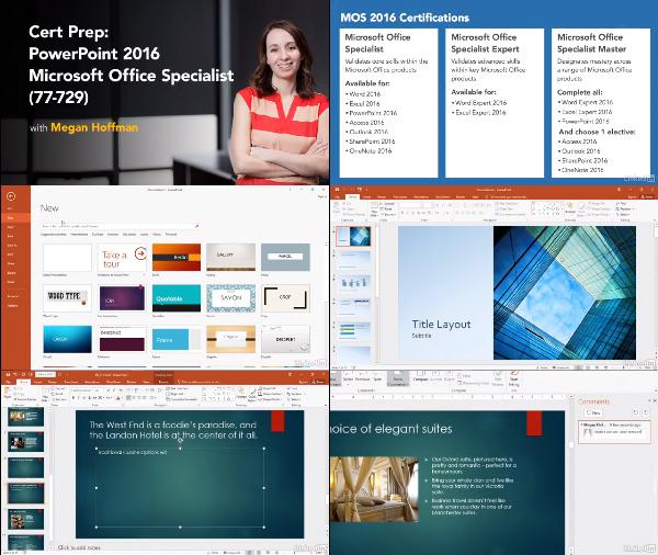 Cert Prep: PowerPoint 2016 Microsoft Office Specialist 77-729 center