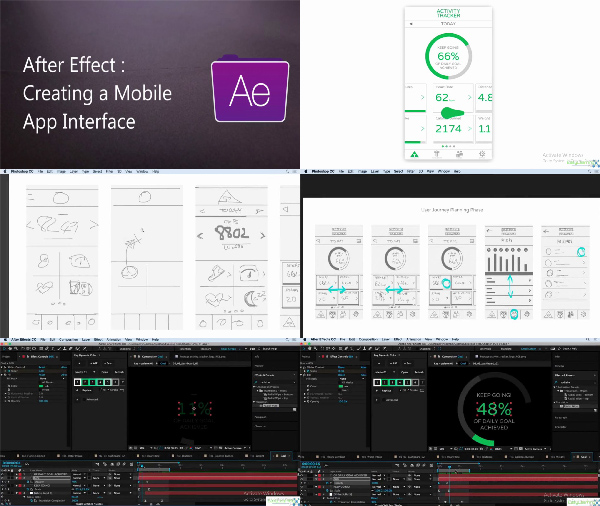 Creating a Mobile App interface in After Effects center
