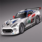 Dodge Viper GTS-R 2013 Race car 3D Model logo