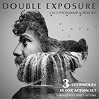 Double Exposure Photoshop Action logo