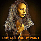 Dry Gold Body Paint Photoshop Action logo