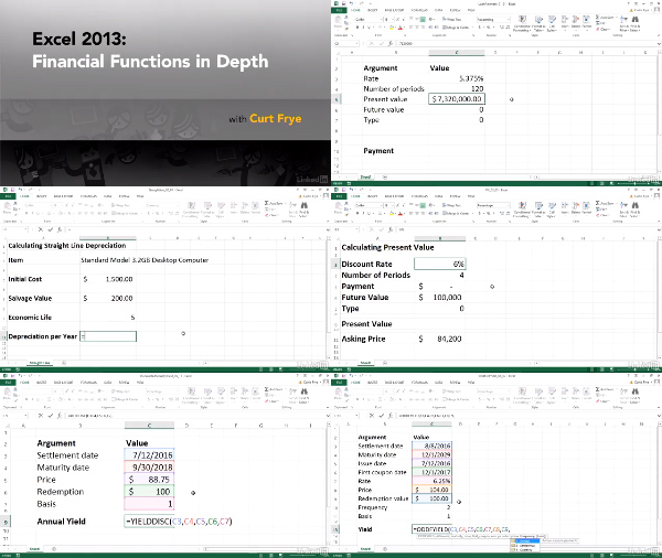 Excel 2013: Financial Functions in Depth center