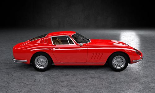 Ferrari 275 GTB 1964 3D Model center