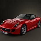 Ferrari 599 GTO 2011 3D Model logo