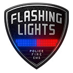 Flashing Lights Police Fire EMS logo