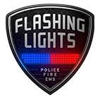 Flashing Lights Police Fire EMS logo
