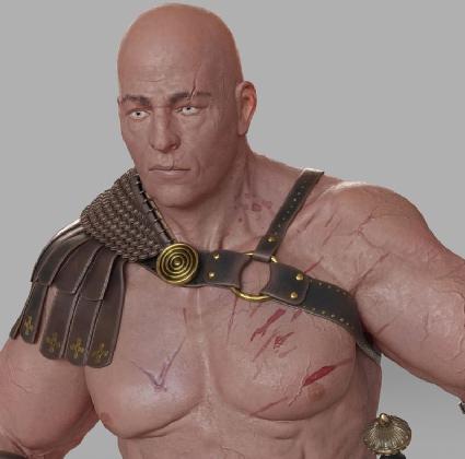 Gladiator in Roman ammunition 3d Model center