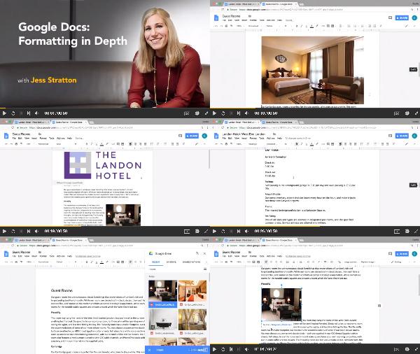 Google Docs: Formatting in Depth center
