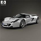 Hennessey Venom GT 2012 3D model logo