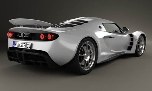 Hennessey Venom GT 2012 3D model center