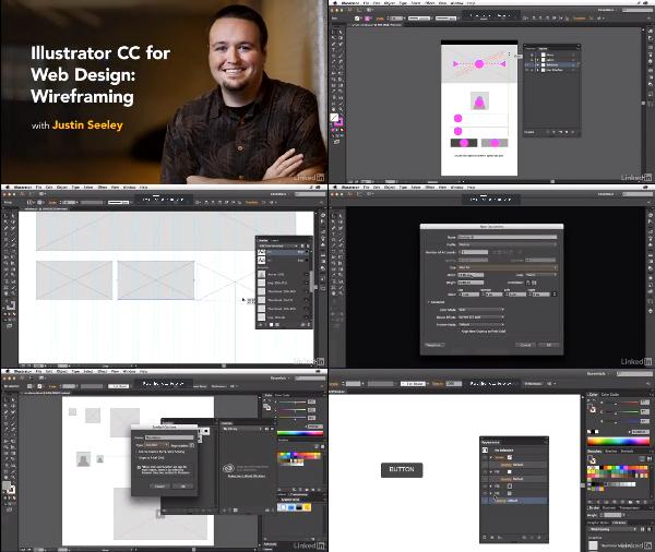 Illustrator CC for Web Design: Wireframing center
