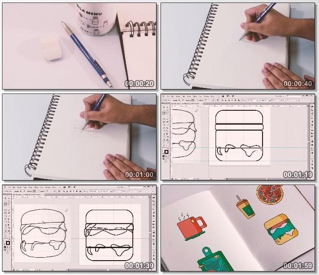 دانلود فیلم آموزشی The Art of Icon Design: Create Beautiful Flat Icon Design Set