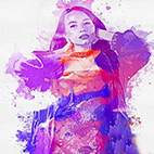 Joy Watercolor Photoshop Action logo