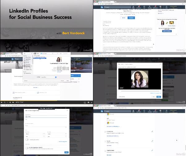 LinkedIn Profiles for Social Business Success center