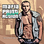 Mafia Painting Art Photoshop Action logo