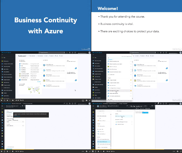 Microsoft Azure: Business Continuity center