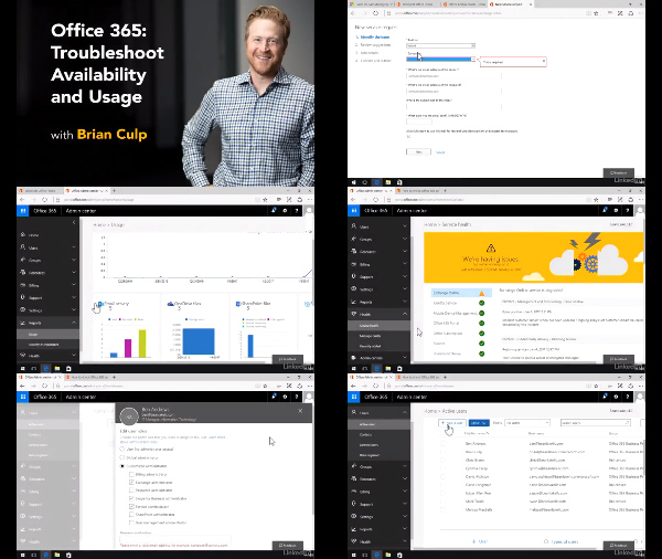 Office 365: Troubleshoot Availability and Usage center