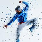 Pixel Shatter Photoshop Action logo