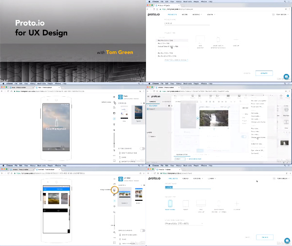 Proto.io for UX Design center
